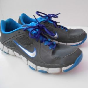 Nike Training Shoes Mens Size 12 Gray Blue GC